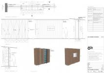 Technische tekening / Kast van oud sloophout