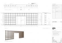OIII architecten, maatwerk tekening openkastenwand