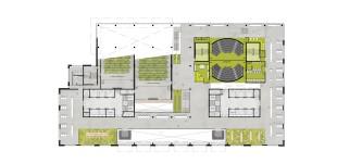 Plattegond / 1e verdieping / Open leercentrum / Studie Landschappen