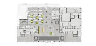 Plattegond / Begane grond / Entreehal / Restaurant