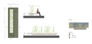 Plattenbakken annex opgetilde zit plateau's op dakterras