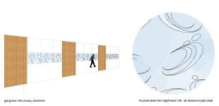 Privacy schermen van acrylaat plaat
