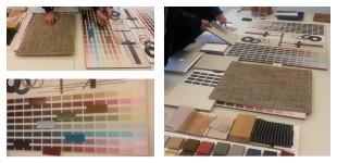 kleuren en materialen palet
