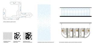 wandafwerking: glas met honingraat dessin