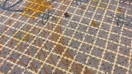 hoefijzer vergaderzaal met dessin tapijt van Jurgen Bey