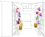 bloemen toog annex poort