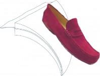 schoen op vilten blad