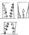 schets vorm studie ruimtelijke ervaring